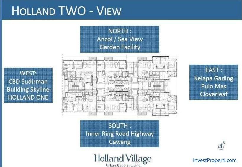 Apartemen Holland Village Two Floor Plan