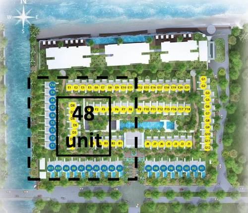 siteplan unit jaya ancol seafront tahap 1