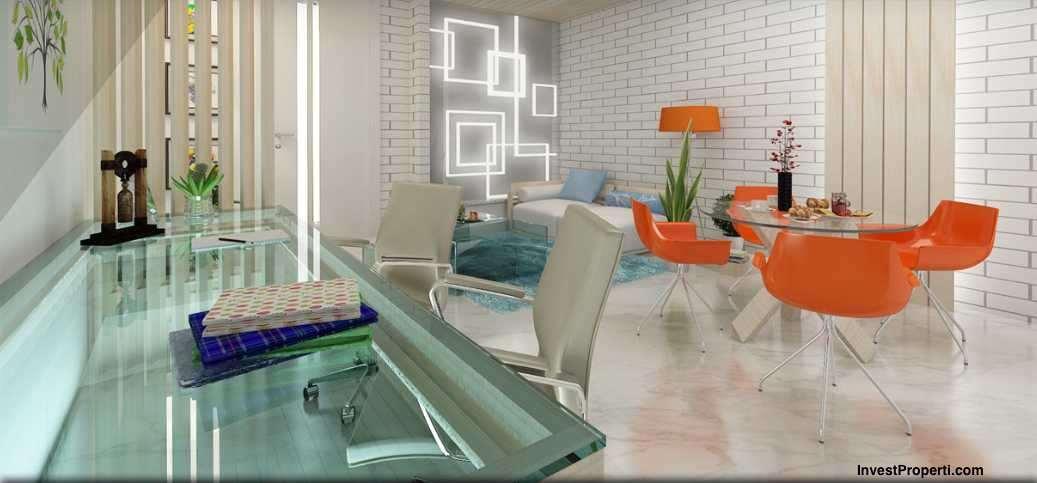 Design Interior 2BR Apartemen Grand Pancoran