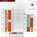 Floorplan lt8 Apartemen Paddington Heights Alam Sutera