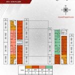 Floorplan lt9-10 Apartemen Paddington Heights Alam Sutera
