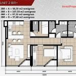 Tipe Unit 2br plus Apartemen Paddington Heights