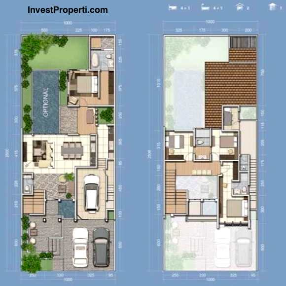 Unit Plan Rumah Cluster Mayfield 10 Greenwich Park BSD City