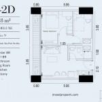 TIpe Unit 2BR Deluxe 2D Embarcadero Suite Apartemen
