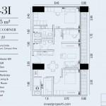 TIpe Unit 3BR Suite Corner Embarcadero Suite Apartemen