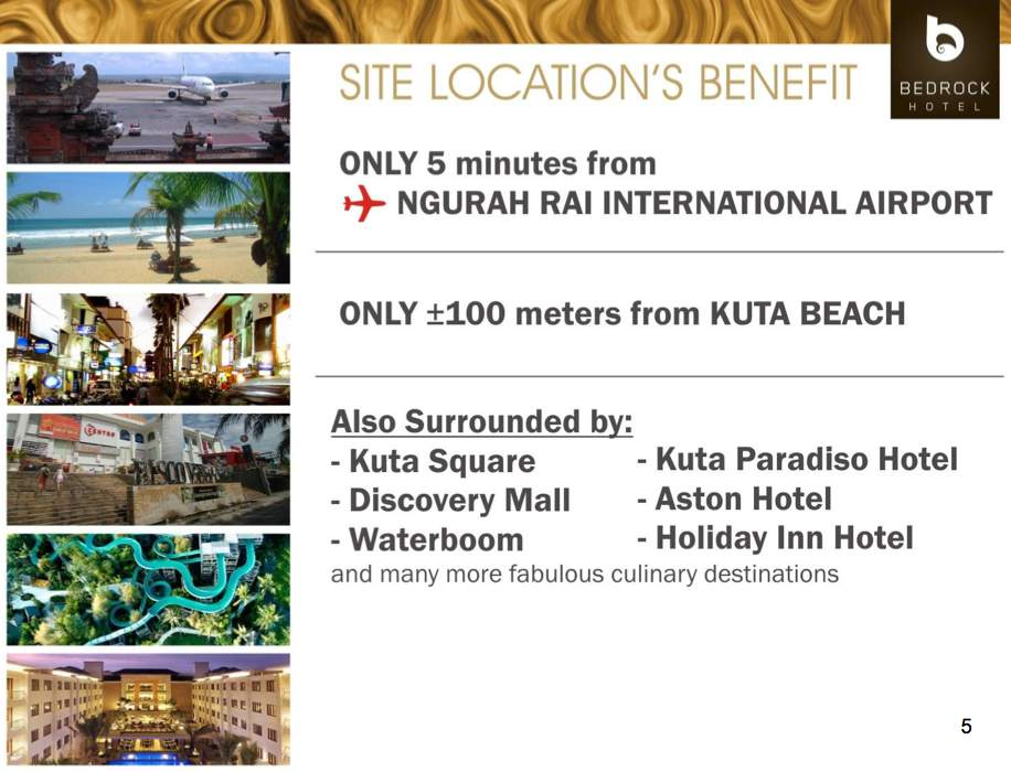 Bedrock Hotel Kuta Location