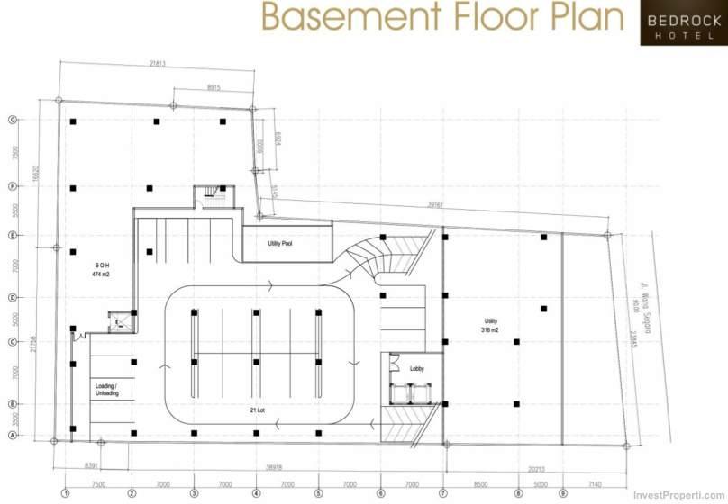 Basement Floor Plan Bedrock Hotel Kuta