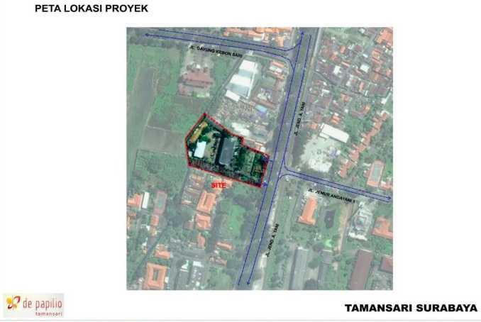 Map De-Papilio Tamansari Apartment