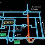 Peta Lokasi Apartemen Embarcadero Suites Bintaro
