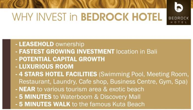 Reason to Invest in Bedrock Hotel Bali