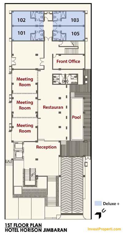 1st Floor Plan Horison Jimbaran Bali