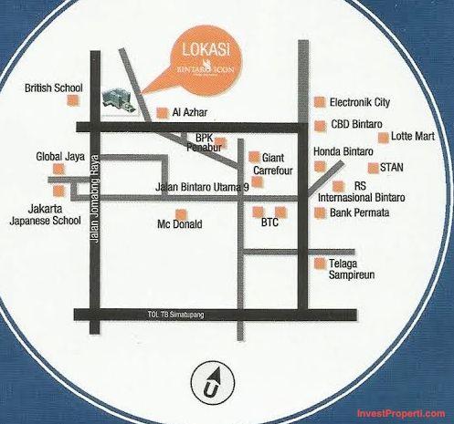 Peta Lokasi Apartemen Bintaro Icon