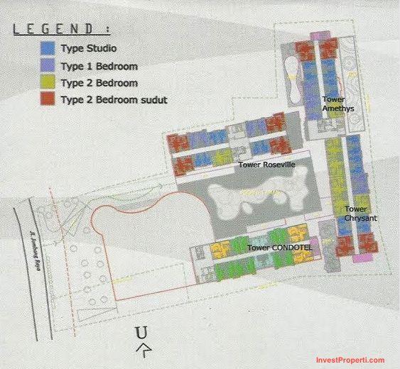 Siteplan Bintaro Icon Apartment