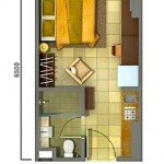 Unit Plan Studio Tower Orchidea apartemen Casa de Parco BSD