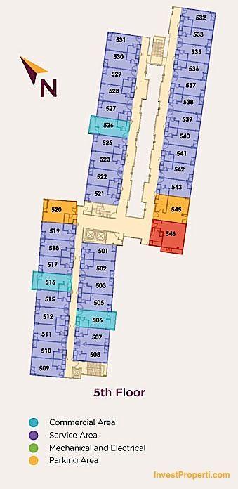 5th Floor Plan Horison Sunset Road