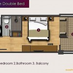 Unit Plan Deluxe Double Bed Horison Sunset Road