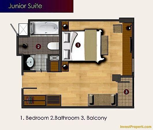 Unit Plan Junior Suite Horison Sunset Road