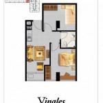 Tipe 2BR Vinales Apartemen Grand Eschol Karawaci