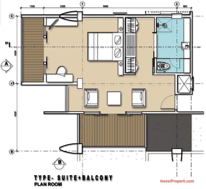 Suite with Balcony Room Mercure Legian Condotel