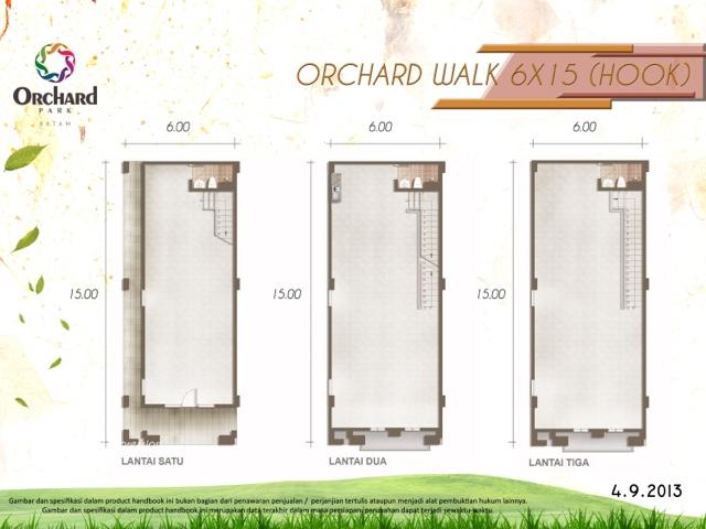 Ruko Tipe 6x15 Orchard Walk