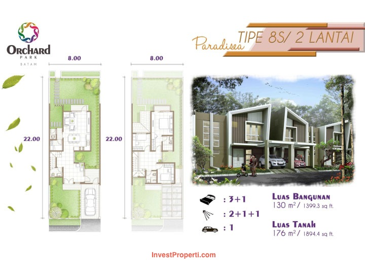 Tipe Paradisea cluster Vitis Estate Orchard Park Batam