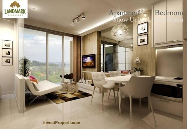 Design Living Room Landmark Residence Apartemen