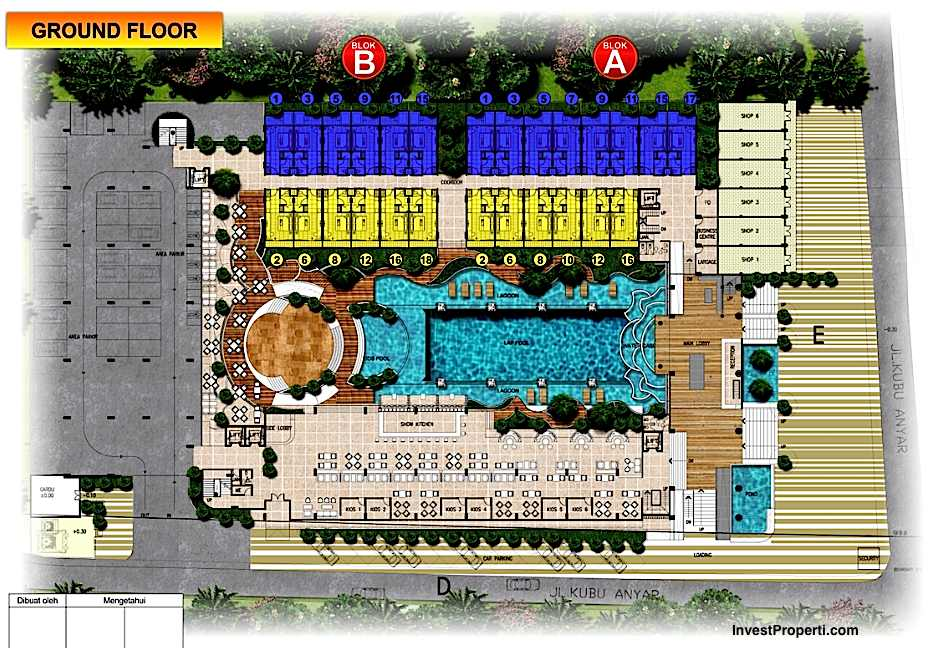 site plan ground floor swiss belhotel kuta bali