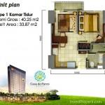 Tipe 1BR Casa de Parco Apartment Tower Magnolia