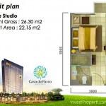 Tipe Studio Casa de Parco Apartment Tower Magnolia