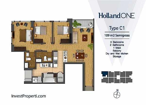 Tipe Unit C1 Holland One