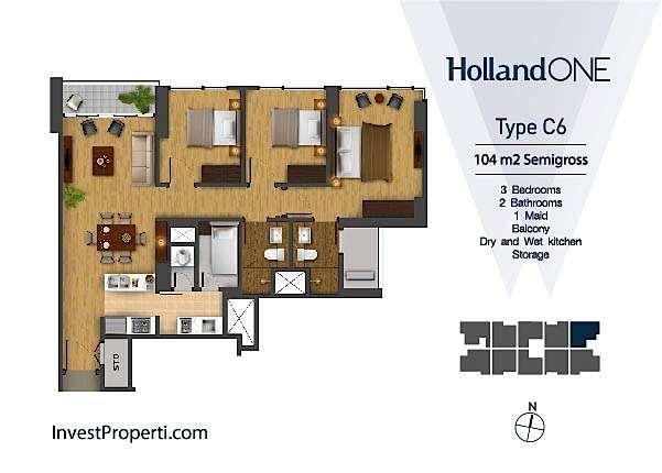 Tipe Unit C6 Holland One