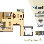 Tipe Unit Holland Two B1 Holland Village Apartemen
