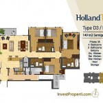 Tipe Unit Holland Two D3 / D5 Holland Village Apartemen