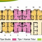 Lantai 22 Floor Plan Tower Magnolia Apartment Casa de Parco