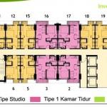 Lantai 23 Floor Plan Tower Magnolia