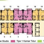 Lantai 29 Floor Plan Tower Magnolia Apartment Casa de Parco