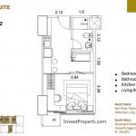 St Moritz Makassar Apartemen Deluxe-Suite-Tipe-S-1B Unit Plan
