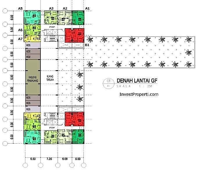 Denah Lantai Ground Floor M-Square Bandung
