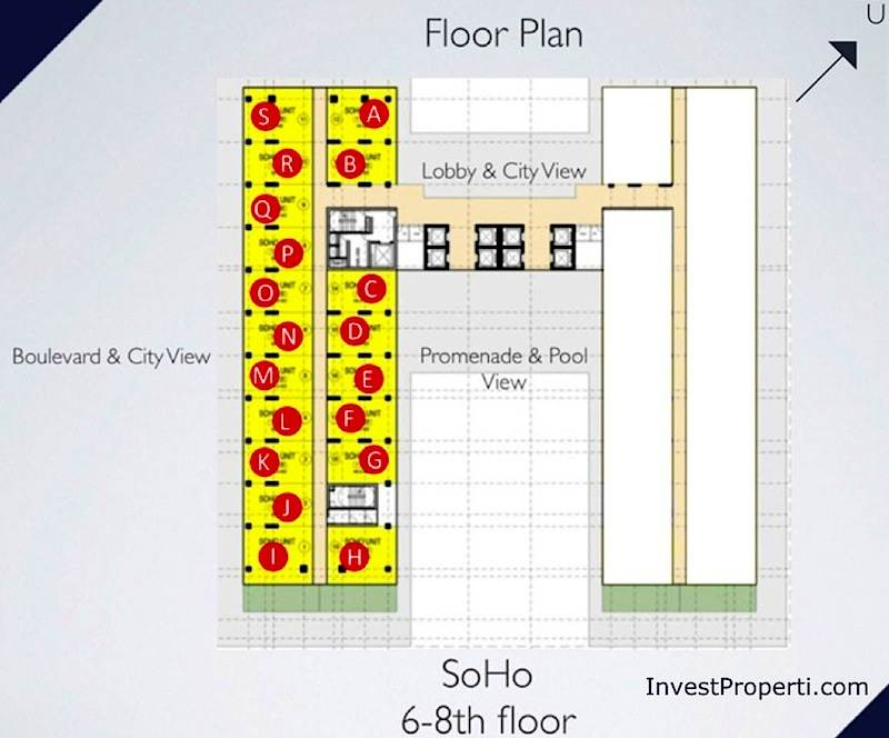 Floor Plan SOHO Brooklyn Alam Sutera 6-8th Floor