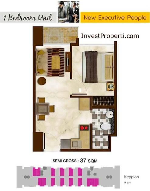 Puri Mansion Apartment Tipe 1 BR