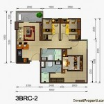 Tipe Unit 3 BR Sudut Skyline Apartemen Cawang