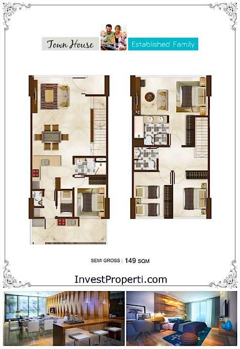Unit Plan Townhouse Puri Mansion Apartment