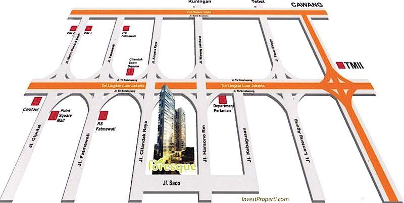 Map Foresque Apartment Ragunan