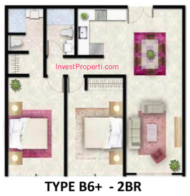 Tipe B6 Plus Apartemen Foresque Ragunan 2 BR