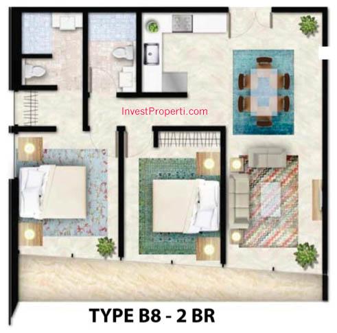 Tipe B8 Apartemen Foresque Ragunan 2 BR
