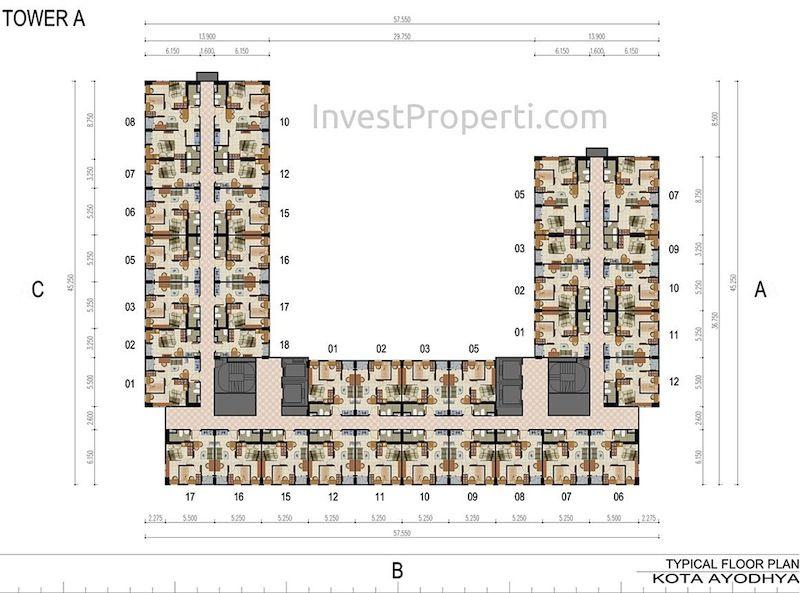 Floor Plan Apartemen Kota Ayodhya Tower A
