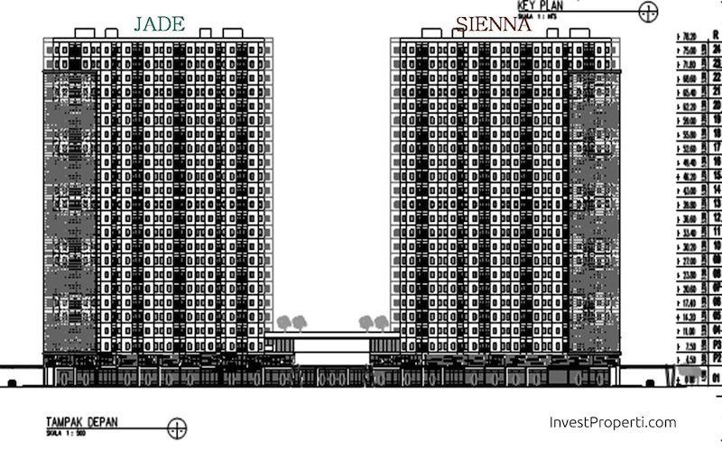 Key Plan Floor Zone Tower Kota Ayodhya Jade dan Sienna