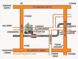 Peta Lokasi Vittoria Residence Daan Mogot