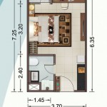 Tipe Unit Studio Vittoria Residence Daan Mogot