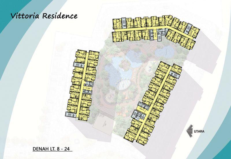 Vittoria Residence Denah Lt 8-24